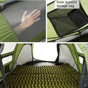 Innside av pop up telt