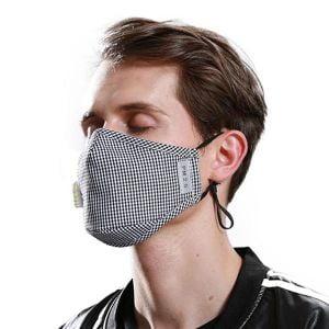 Svart hvitgrå maske