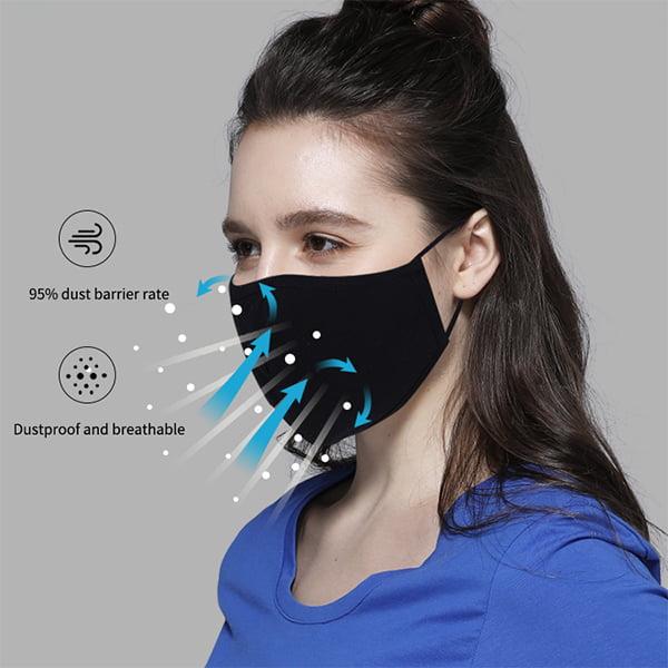 Ansiktsmaske som puster
