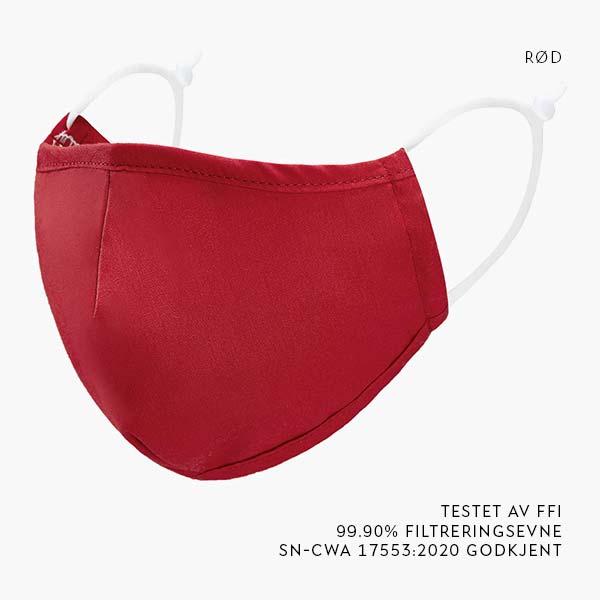Rødt tøymunnbind