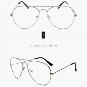 Sølvramme pilotbrille - Databrille
