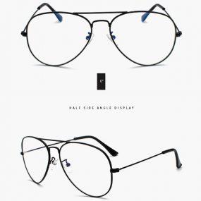 Svart pilotbrille - Databrille