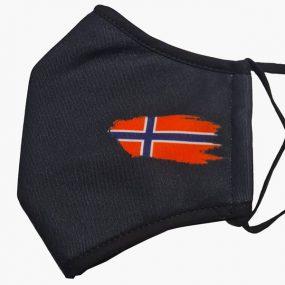 svart munnbind norsk flagg