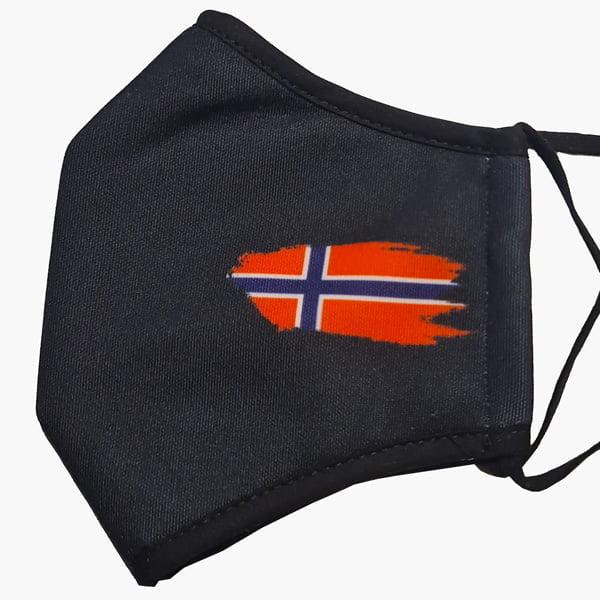 svart munnbind norsk flagg7. februar 2021