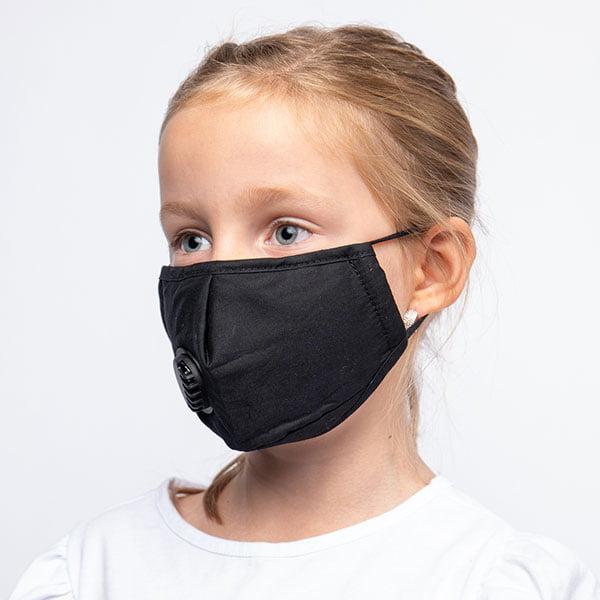 Svart munnbind med ventil