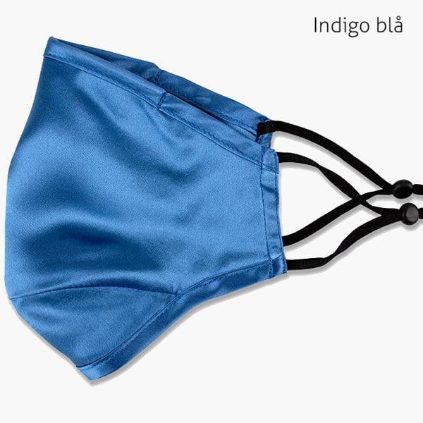 Indigo blå silkemunnbind