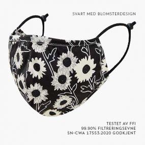 design-svart-blomster